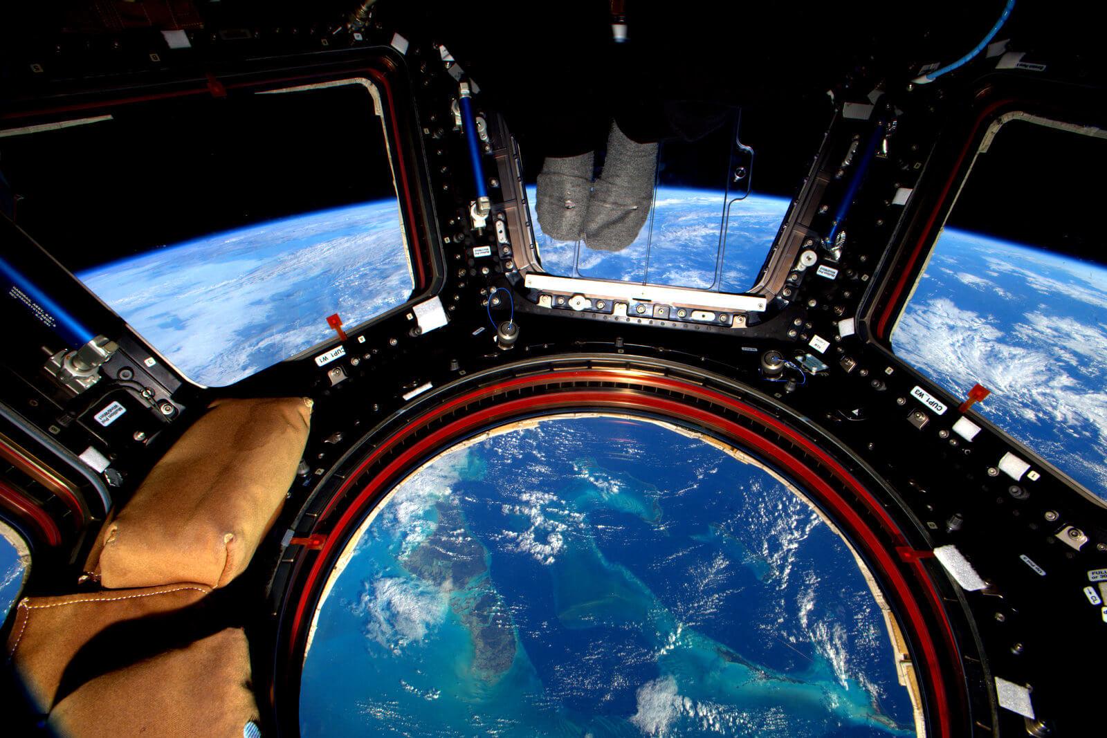 Bahamas observada desde a estação espacial internacional.