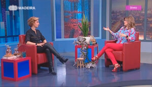 Rita Aleluia no programa Madeira Viva, da RTP Madeira