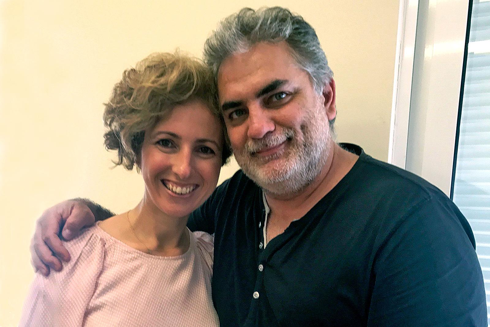 Rita Aleluia com Henrique, fundador do grupo Dançando com a Diferença