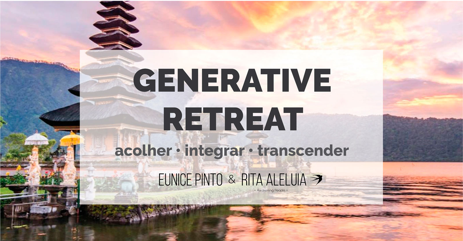 Cartaz Generative Retreat em Bali, Indonesia