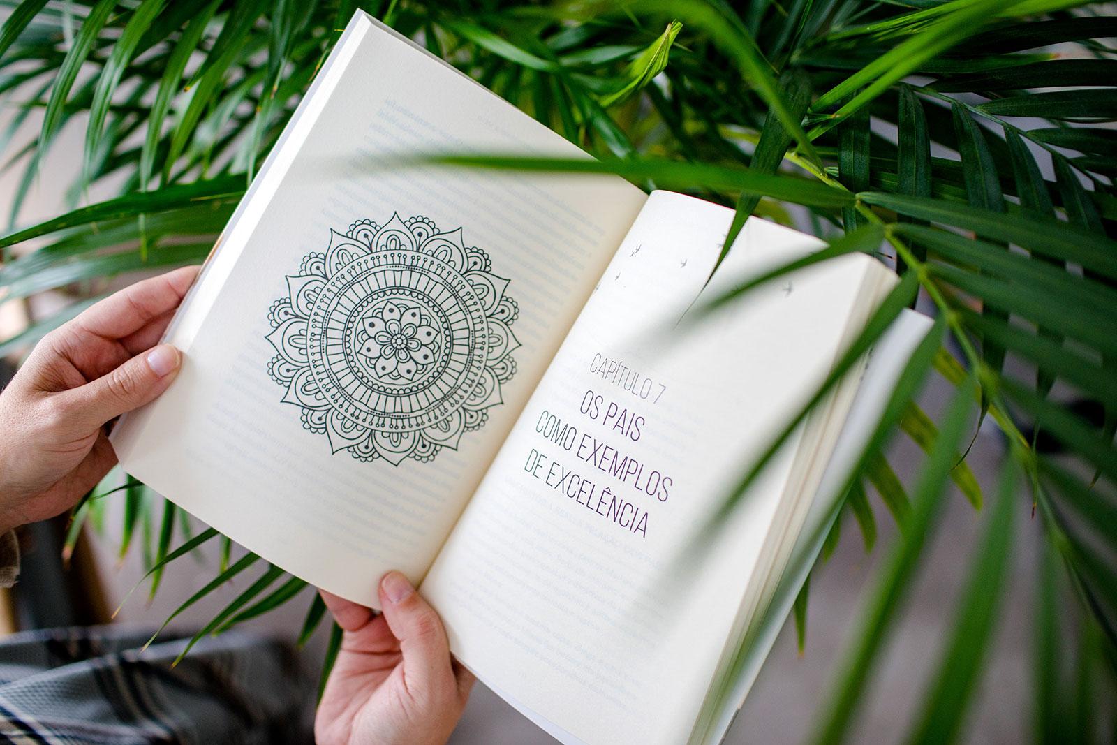 Página com Mandala, no livro Gurus de Palmo e Meio, de Rita Aleluia