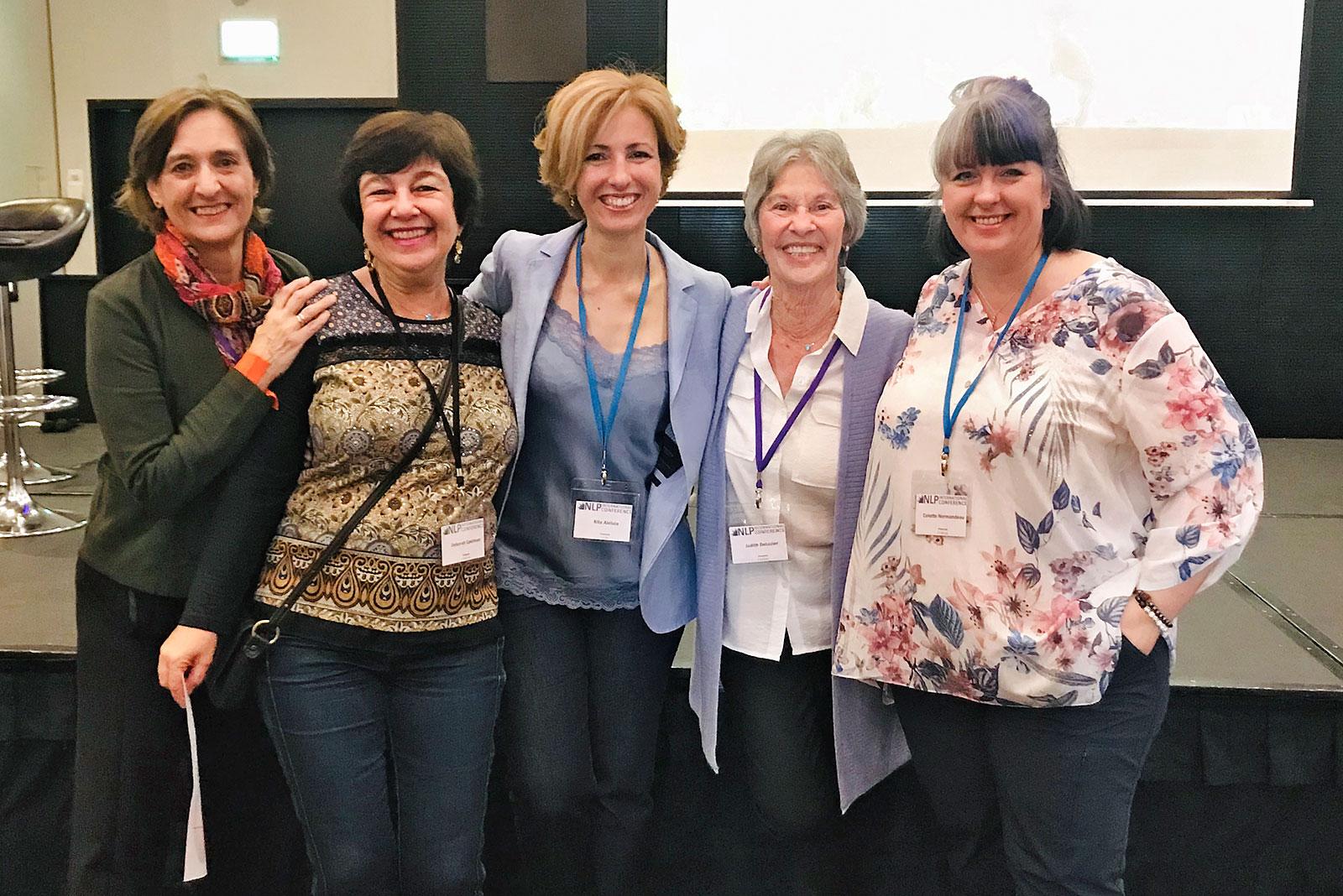Deborah Epelman com Rita Aleluia, Judith DeLozier e outros.