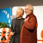 Bruce Lipton e Gregg Braden, no evento Life Strategies, em Roma
