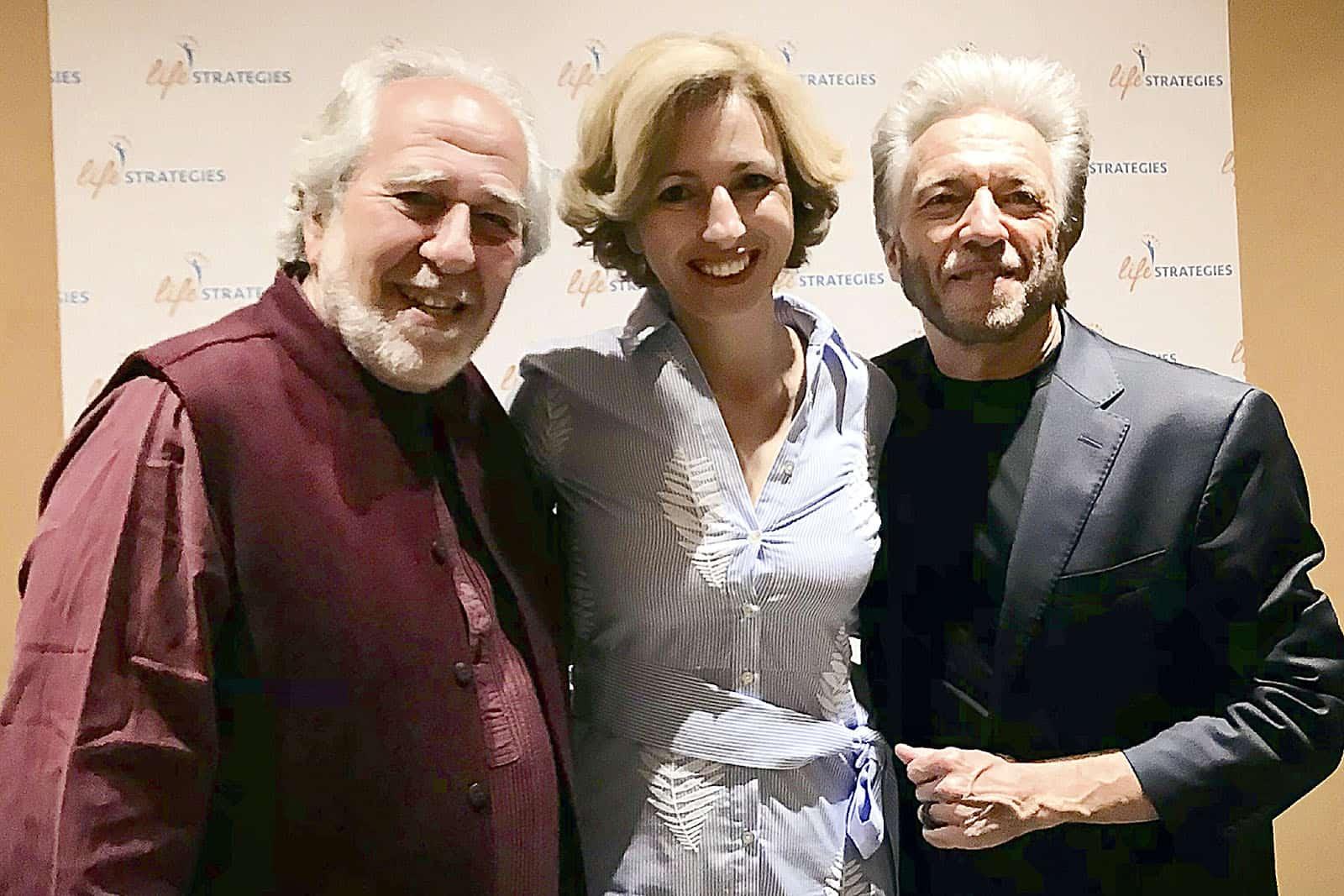 Rita Aleluia com Bruce Lipton e Gregg Braden